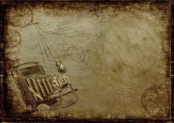 camera, steampunk, clock